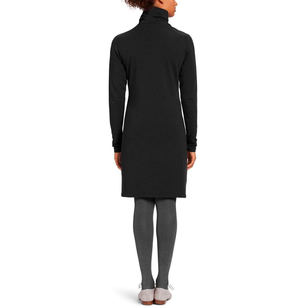 NAU Women's Elementerry Pleat Dress - CAVIAR