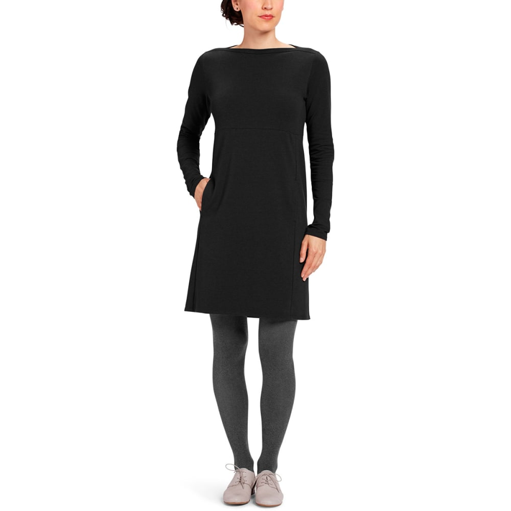 NAU Women's Elementerry Boatneck Dress - CAVIAR