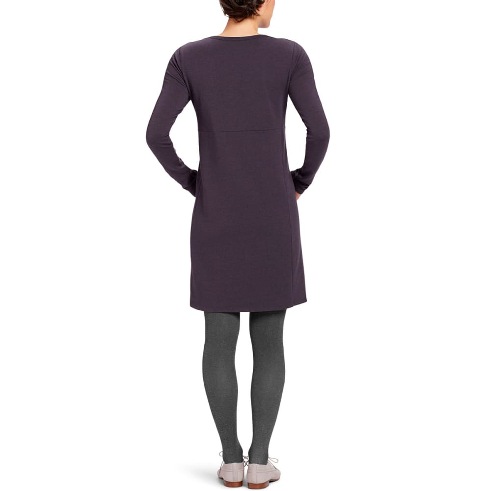 NAU Women's Elementerry Boatneck Dress - AUBERGINE