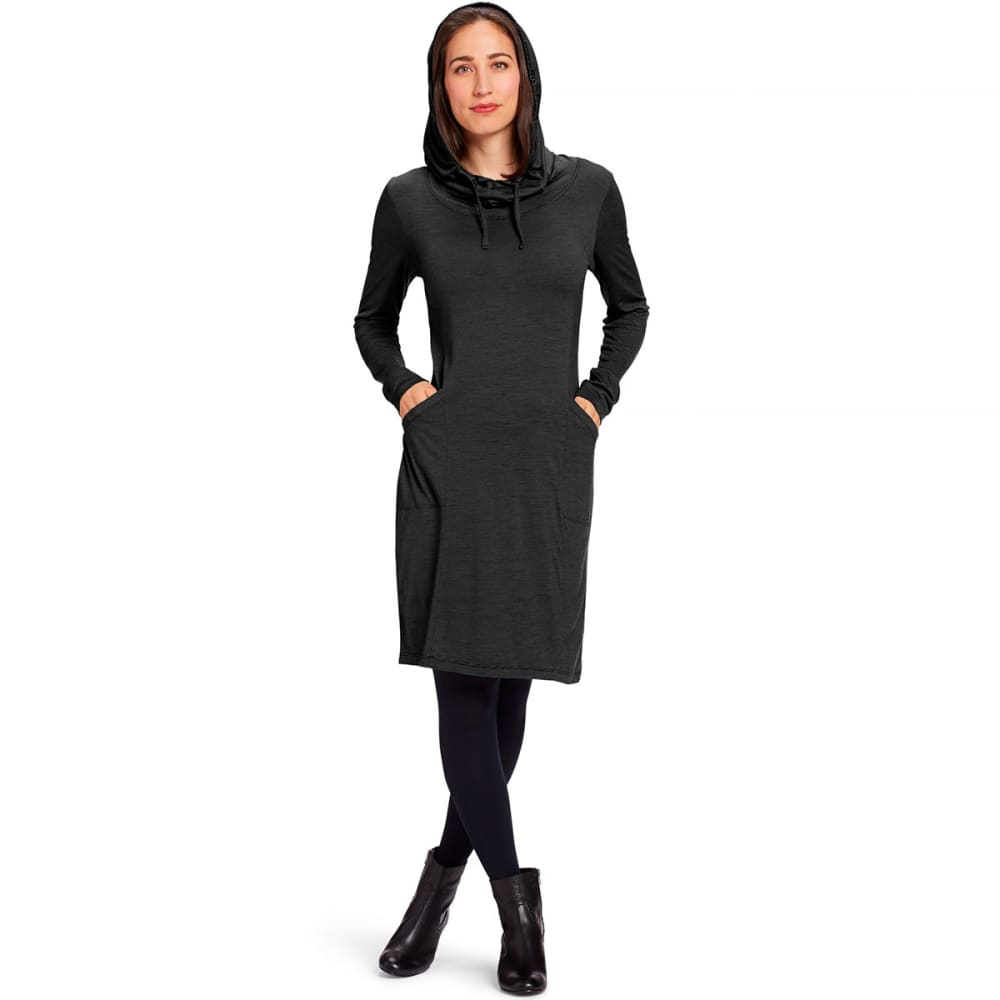 NAU Women's M2 Long-Sleeve Hoodress - CAVIAR STRIPE
