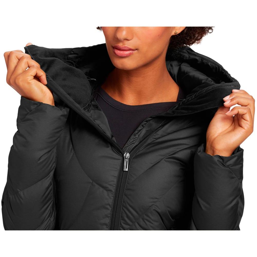 NAU Women's Down Hoody Jacket - CAVIAR HEATHER