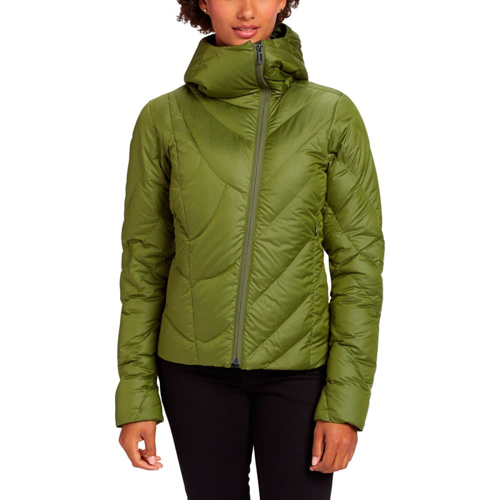 NAU Women's Down Hoody Jacket - PESTO HEATHER