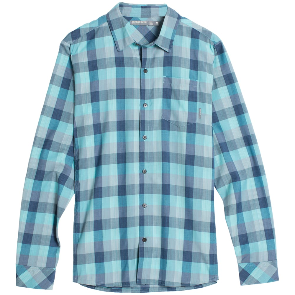 ICEBREAKER Men's Departure II Long-Sleeve Plaid Shirt - FTHM H/SHR/FSL