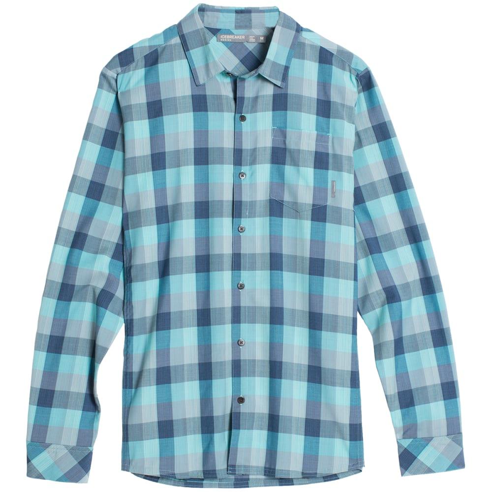 ICEBREAKER Men's Departure II Long-Sleeve Plaid Shirt - FTHM H/SHR/FSL