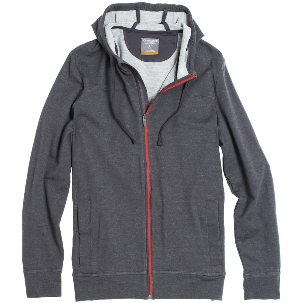 ICEBREAKER Men's Shifter Long-Sleeve Zip Hood - MNSN/MLTN/MNSN