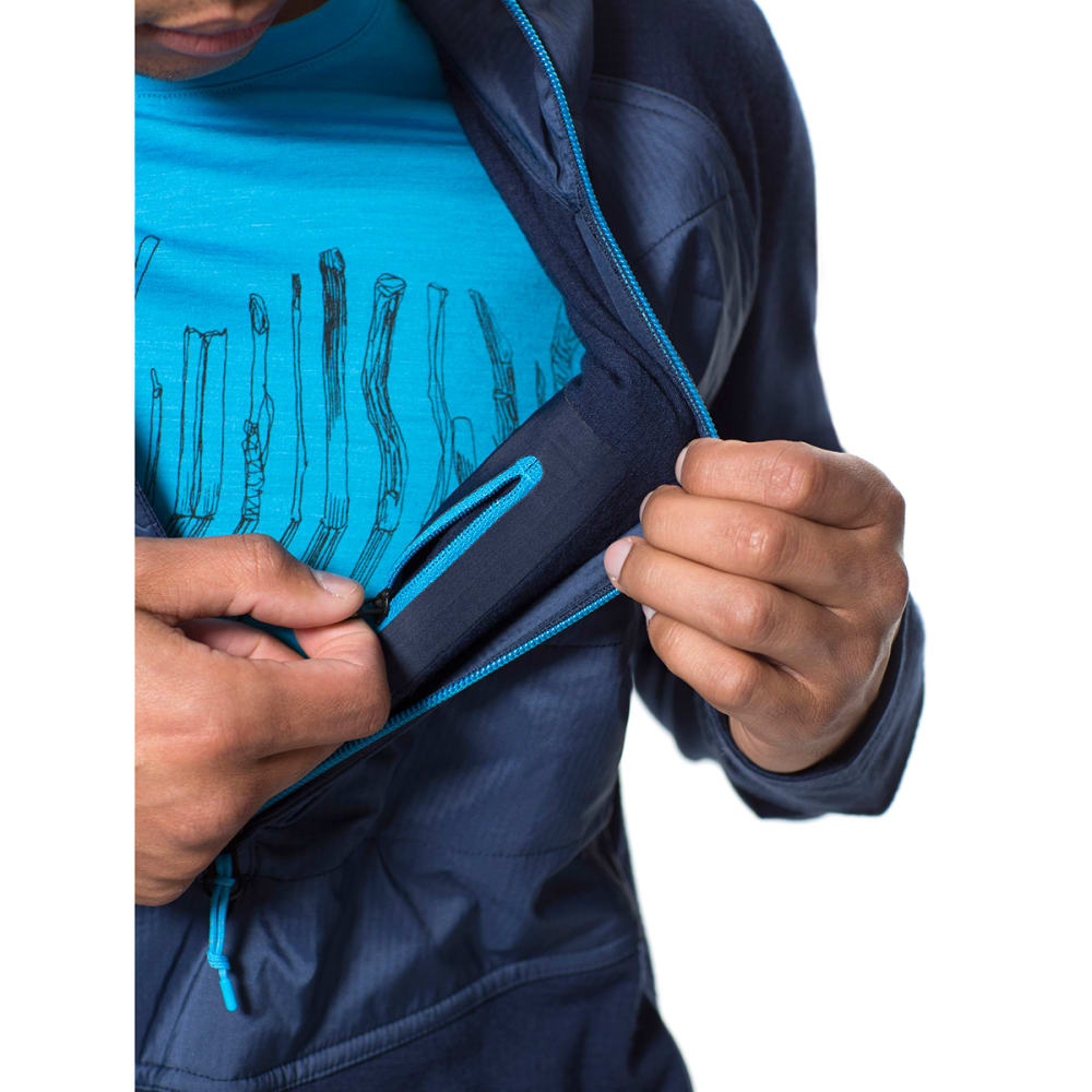Mens jacket half - Icebreaker Men 39 S Merinoloft Ellipse Long Sleeve Half Zip Hood Admiral