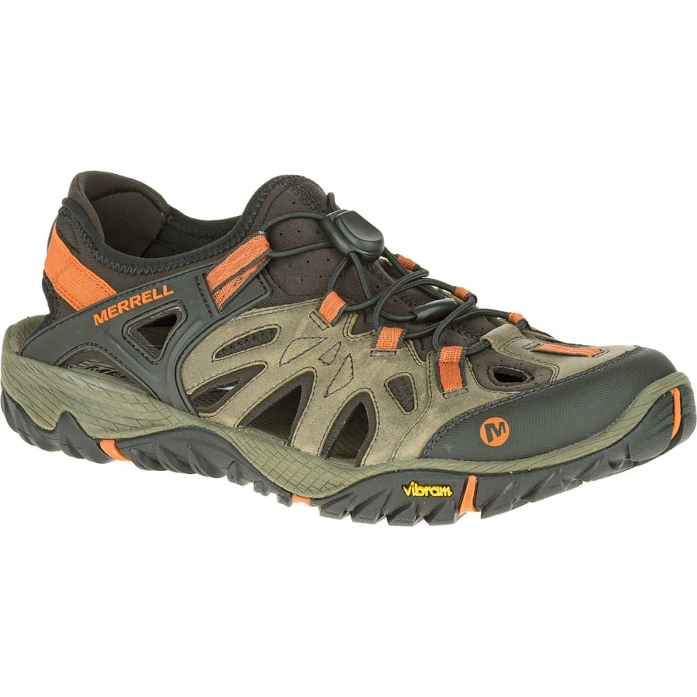 Brown Leather Merrell Shoes
