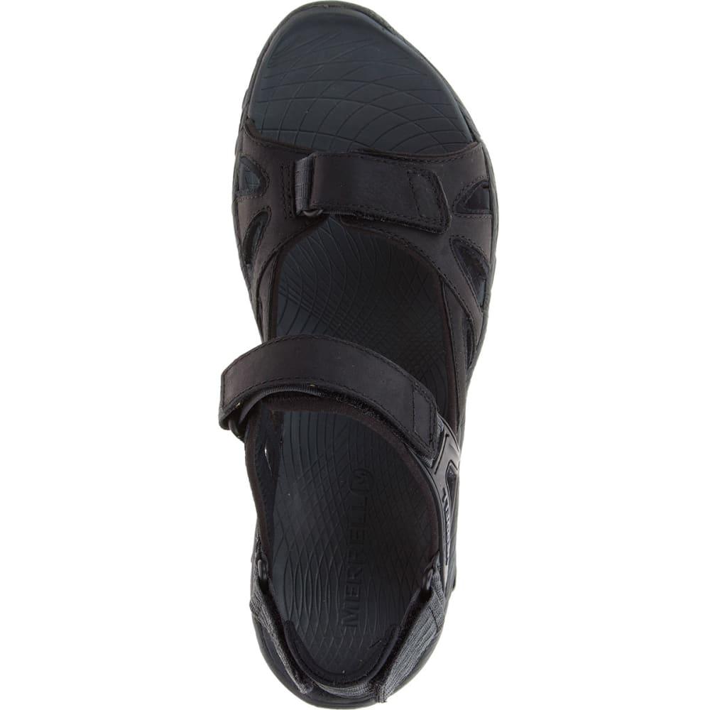 0004a2a05ed4 MERRELL Men  39 s All Out Blaze Sieve Convertible Hiking Sandals - BLACK