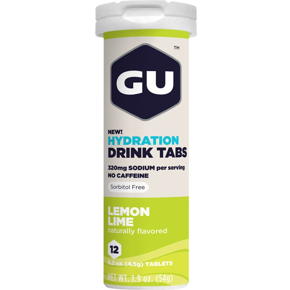 GU Hydration Drink Tabs, Lemon Lime - NO COLOR