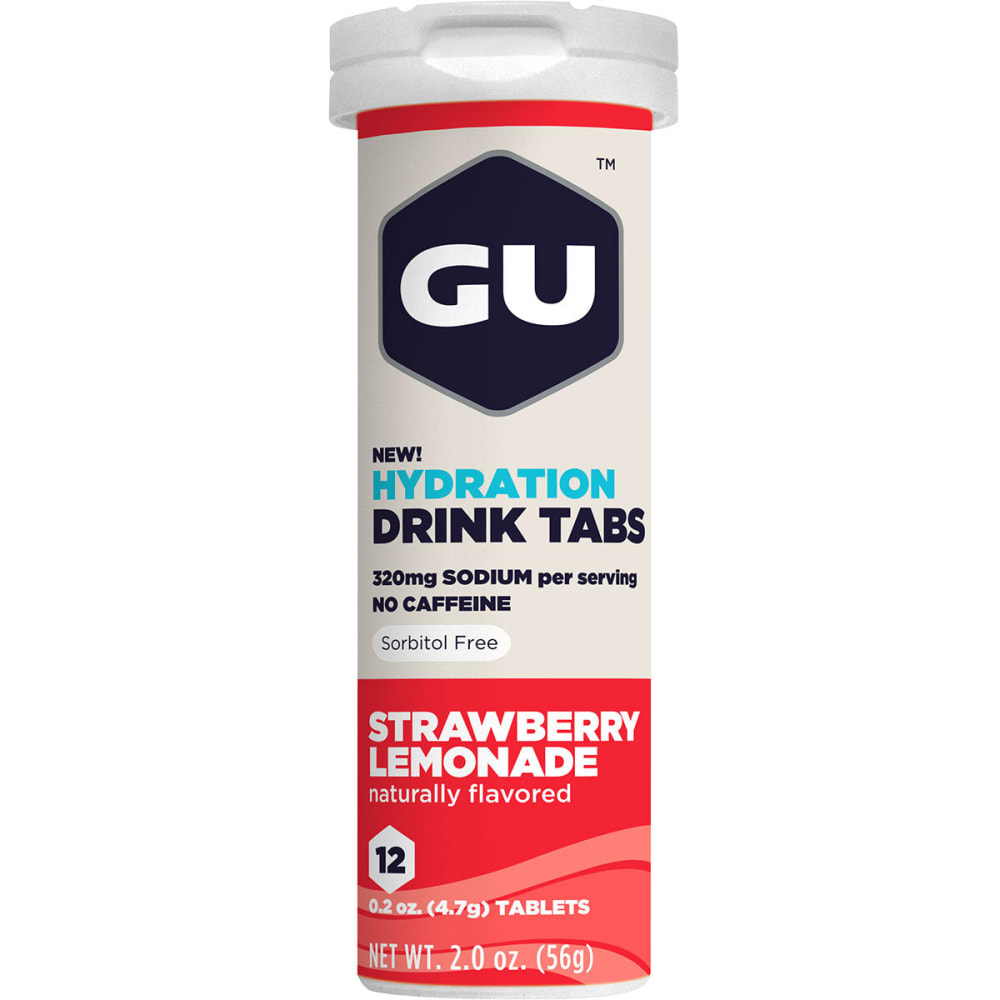 GU Hydration Drink Tabs, Strawberry Lemonade - NO COLOR