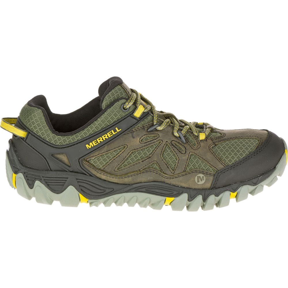 MERRELL Men's All Out Blaze Ventilator Hiking Shoes, Olive - OLIVE