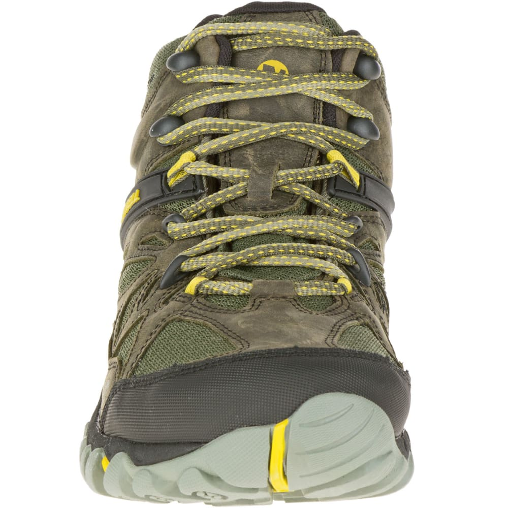 MERRELL Men's All Out Blaze Ventilator Mid Waterproof Hiking Boots, Olive - OLIVE