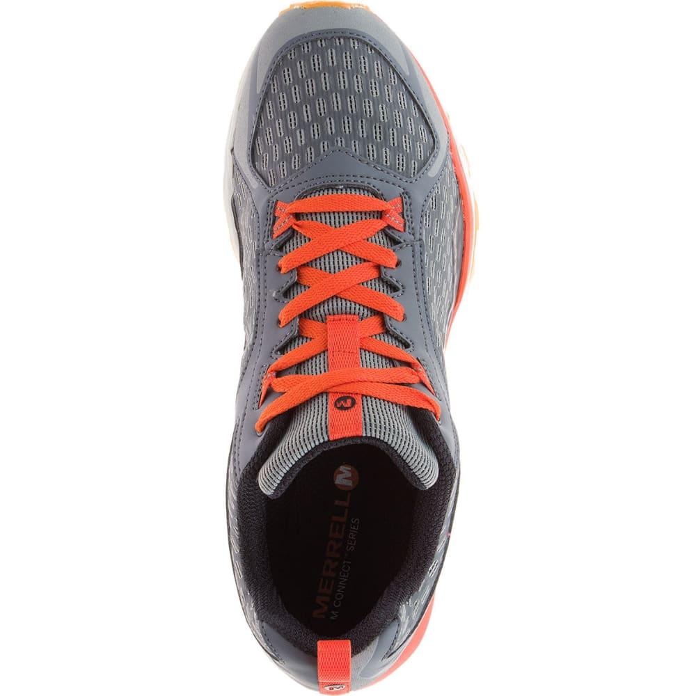 MERRELL Men's All Out Crush Trail Running Shoes, Grey/Orange - GREY/ORANGE
