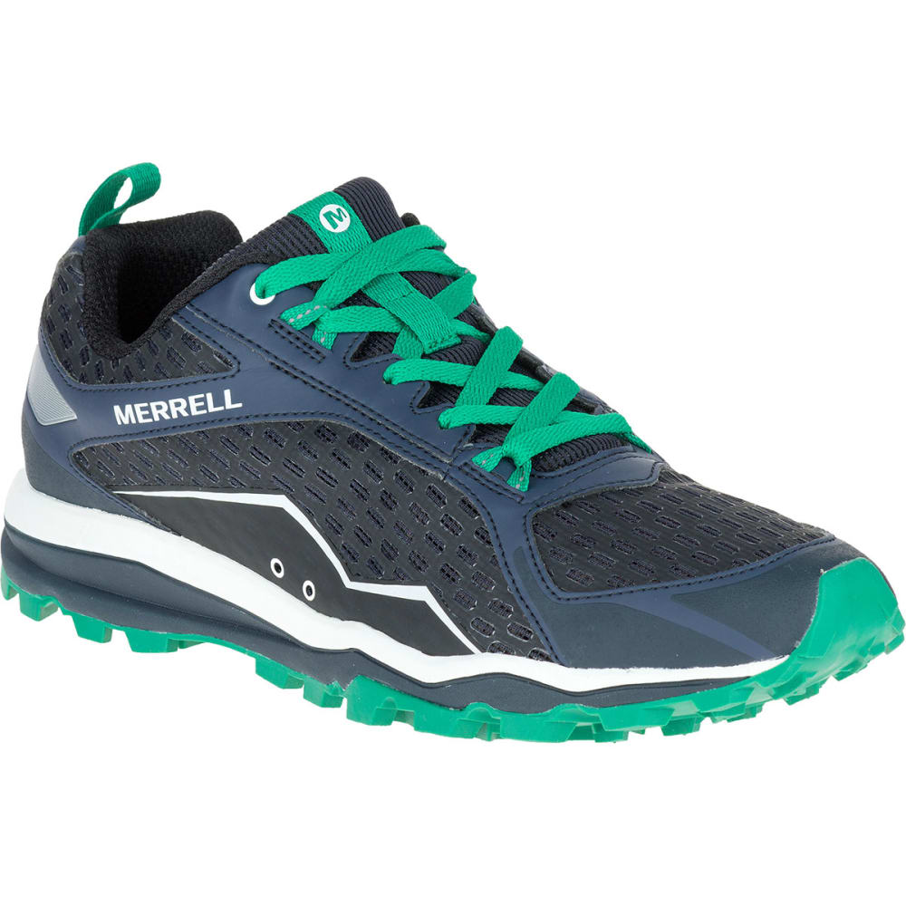 MERRELL Men's All Out Crush Trail Running Shoes, Navy - NAVY