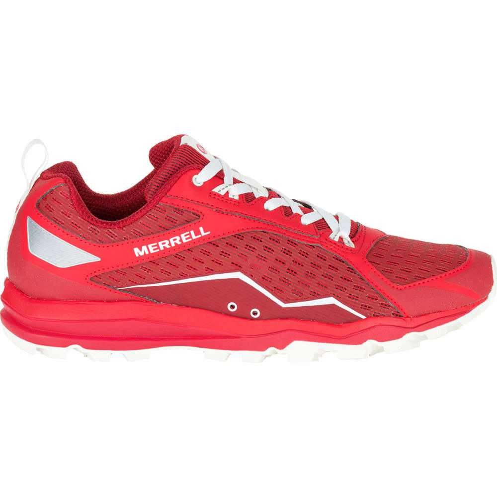 MERRELL Men's All Out Crush Trail Running Shoes, Red - RED