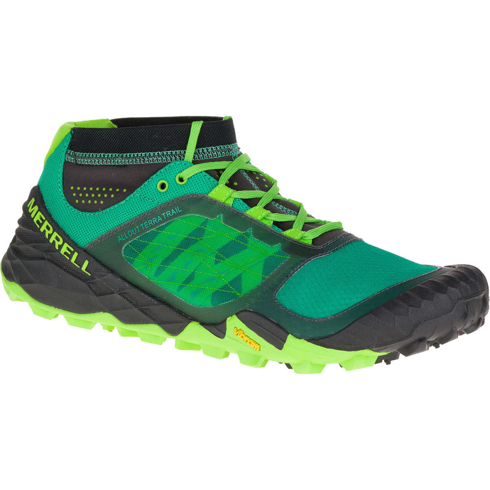 MERRELL Men's All Out Terra Trail Running Shoes, Bright Green - BRIGHT  GREEN