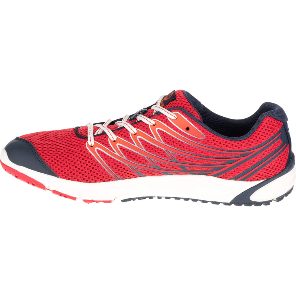 MERRELL Men's Bare Access 4 Running Shoes, Blue/Red - BLUE/RED