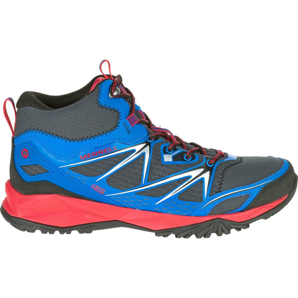 MERRELL Men's Capra Bolt Mid Waterproof Hiking Boots, Blue - BLUE