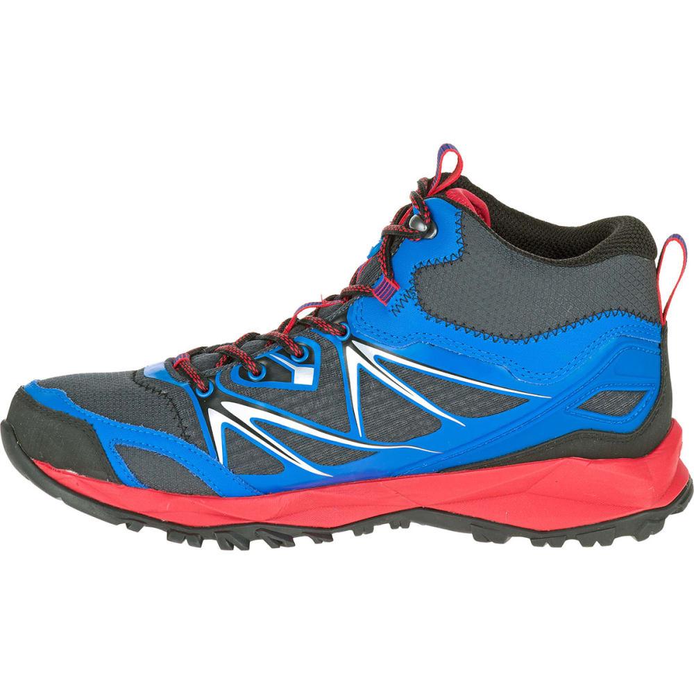 1c71ccc715f MERRELL Men's Capra Bolt Mid Waterproof Hiking Boots, Blue