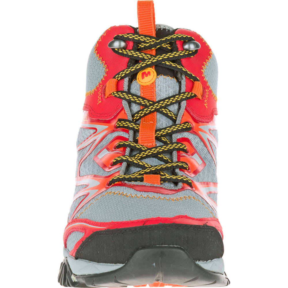 MERRELL Men's Capra Bolt Mid Waterproof Hiking Boots, Bright Red - BRIGHT RED