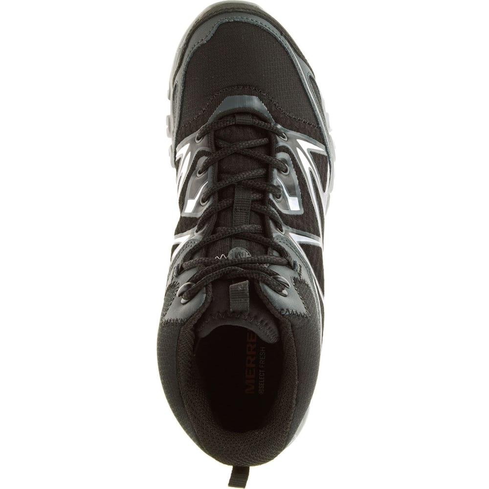 MERRELL Men's Capra Bolt Mid Waterproof Hiking Boots, Black - BLACK
