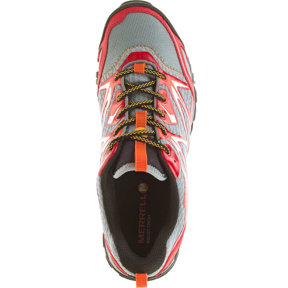 MERRELL Men's Capra Bolt Waterproof Trail Shoes, Bright Red - BRIGHT RED