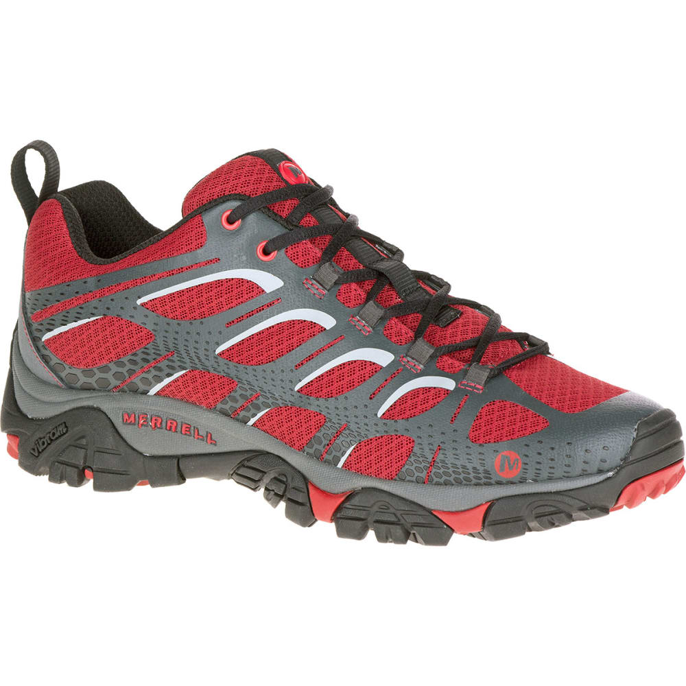 MERRELL Men's Moab Edge Shoes, Deep Red - DEEP RED