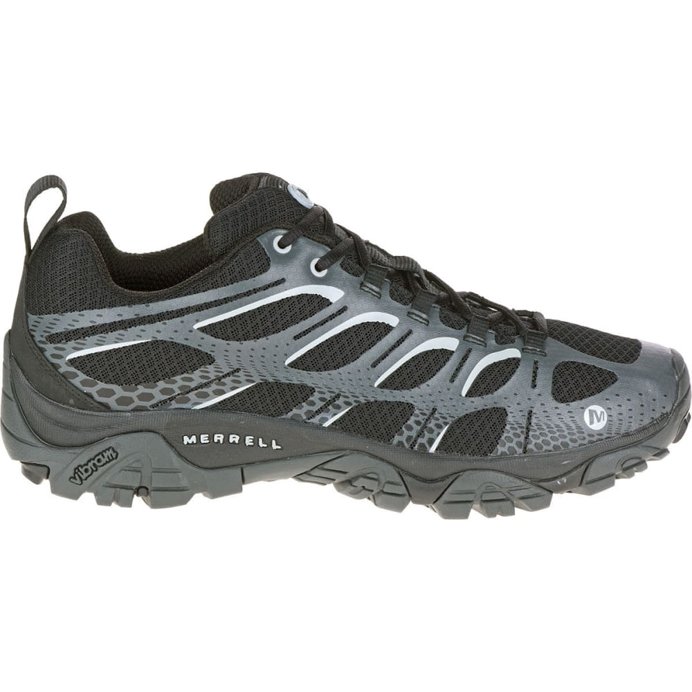 MERRELL Men's Moab Edge Shoes, Black/Grey - BLACK/GREY