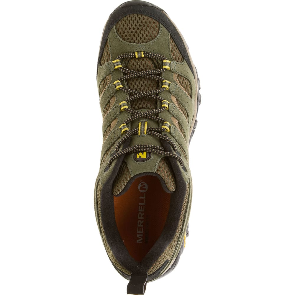 MERRELL Men's Moab Ventilator Hiking Shoes, Olive - OLIVE