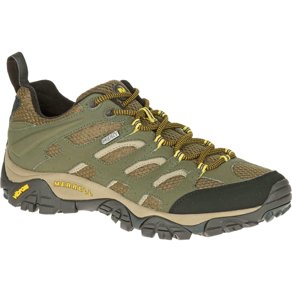 MERRELL Men's Moab Waterproof Hiking Shoes, Olive - OLIVE