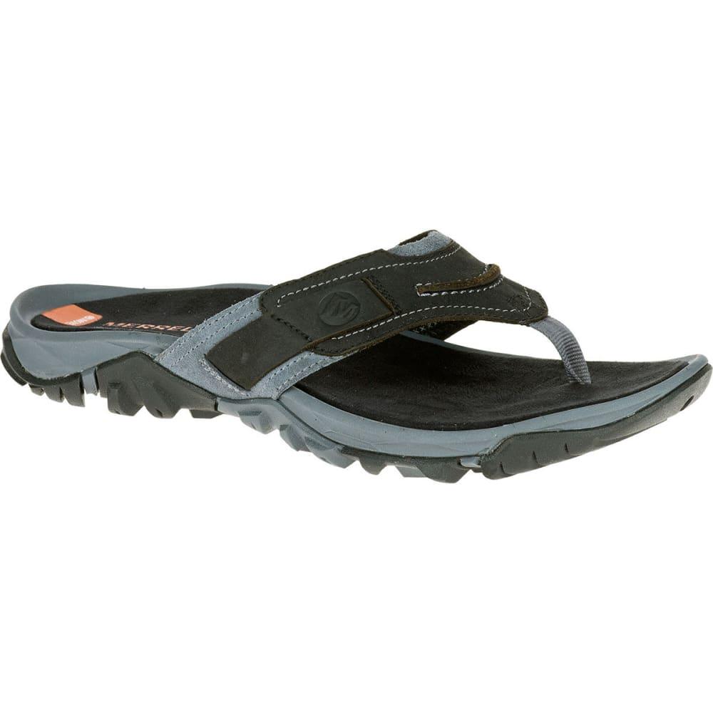 MERRELL Men's Telluride Thong Sandals, Black - BLACK