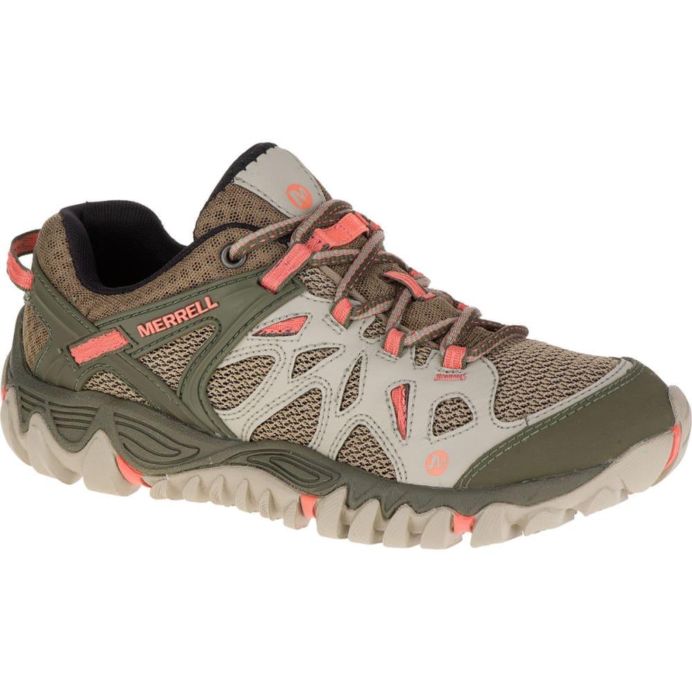 MERRELL Women's All Out Blaze Aero Sport Hiking Shoes, Beige/Khaki - BEIGE/KHAKI