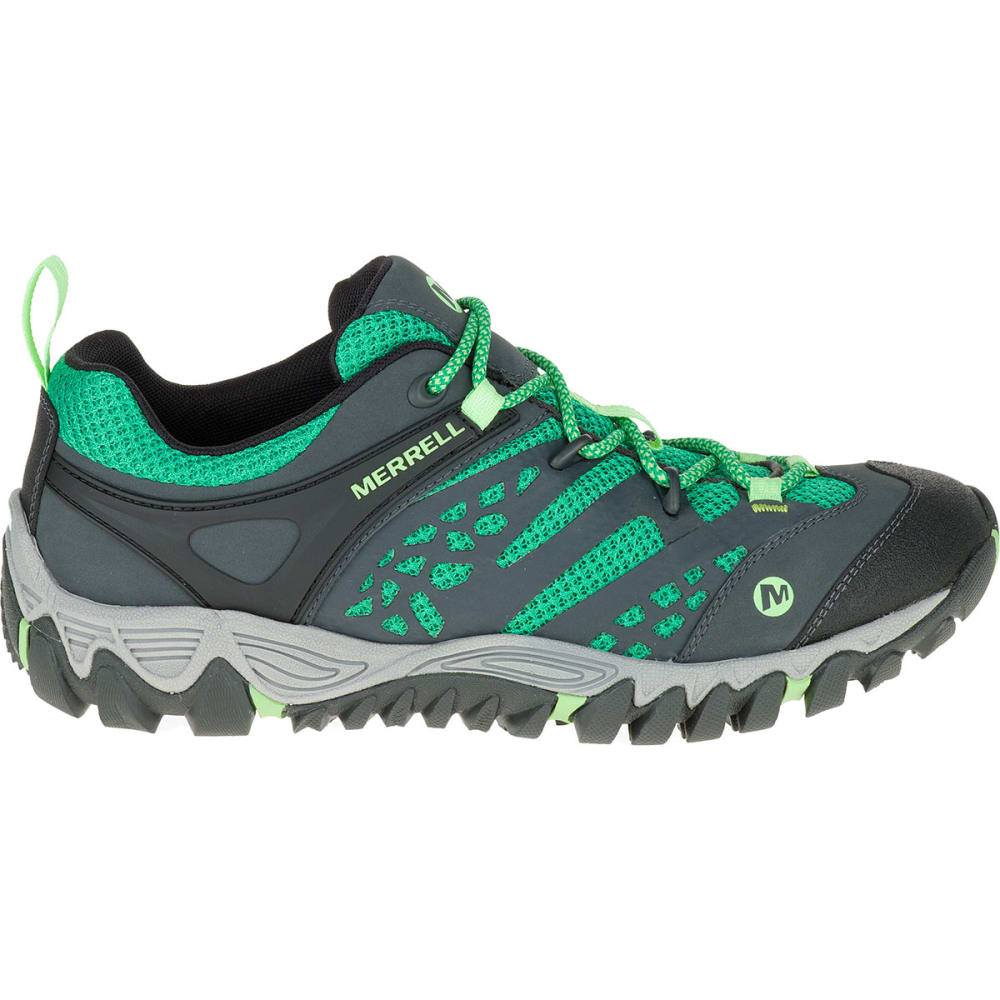 MERRELL Women's All Out Blaze Ventilator Hiking Shoes, Bright Green - BRIGHT GREEN