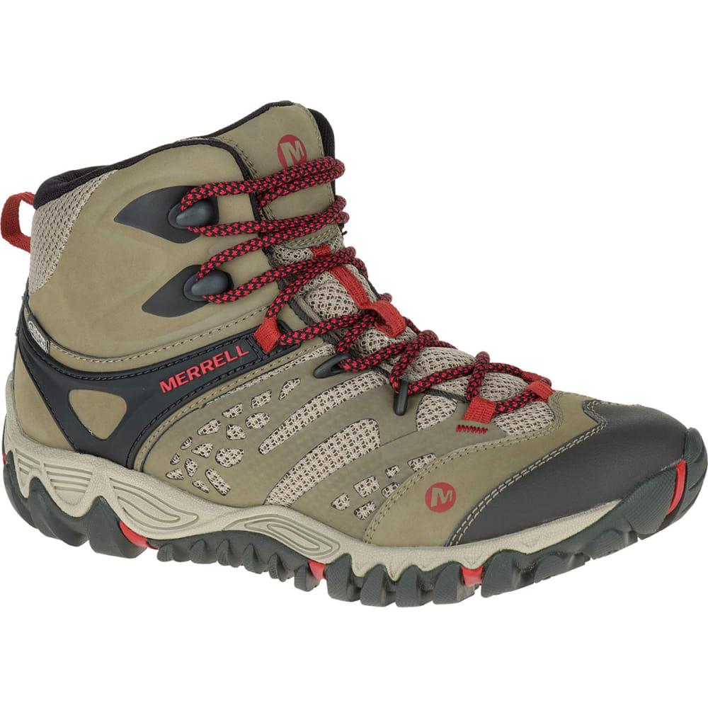 MERRELL Women's All Out Blaze Ventilator Mid Waterproof Hiking Boots, Brown - BROWN