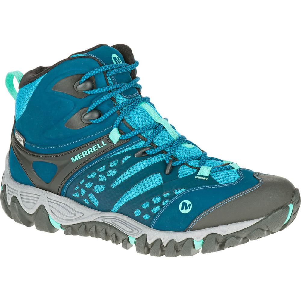 MERRELL Women's All Out Blaze Ventilator Mid Waterproof Hiking Boots, Brown - TURQUOISE/AQUA