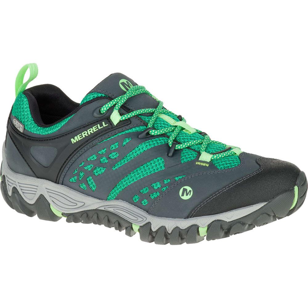 Good Sale Merrell All Out Blaze Vent Waterproof Womens Bright Green boots osc1E6Ux
