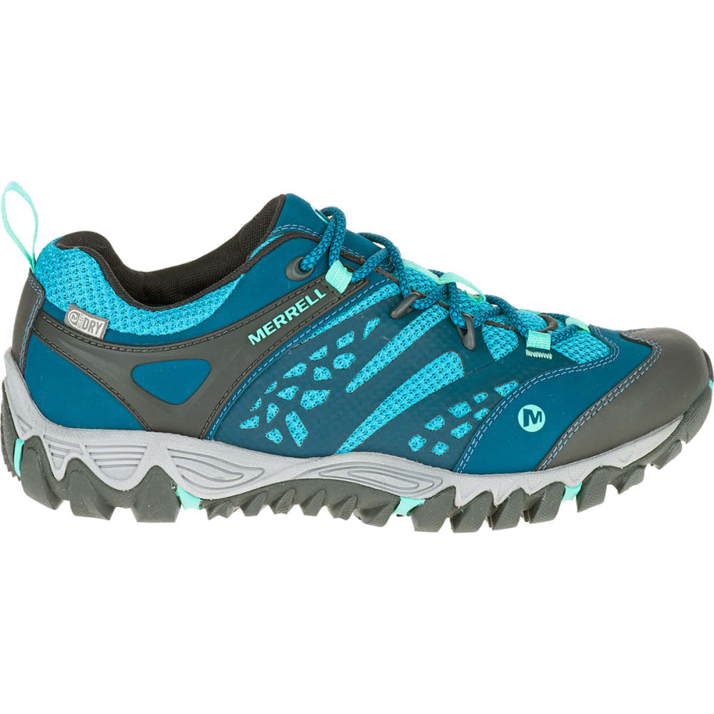 MERRELL Women's All Out Blaze Ventilator Waterproof Hiking Shoes, Turquoise/Aqua - TURQUOISE/AQUA