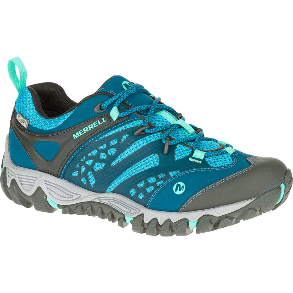 MERRELL Women's All Out Blaze Ventilator Waterproof Hiking Shoes,  Turquoise/Aqua -