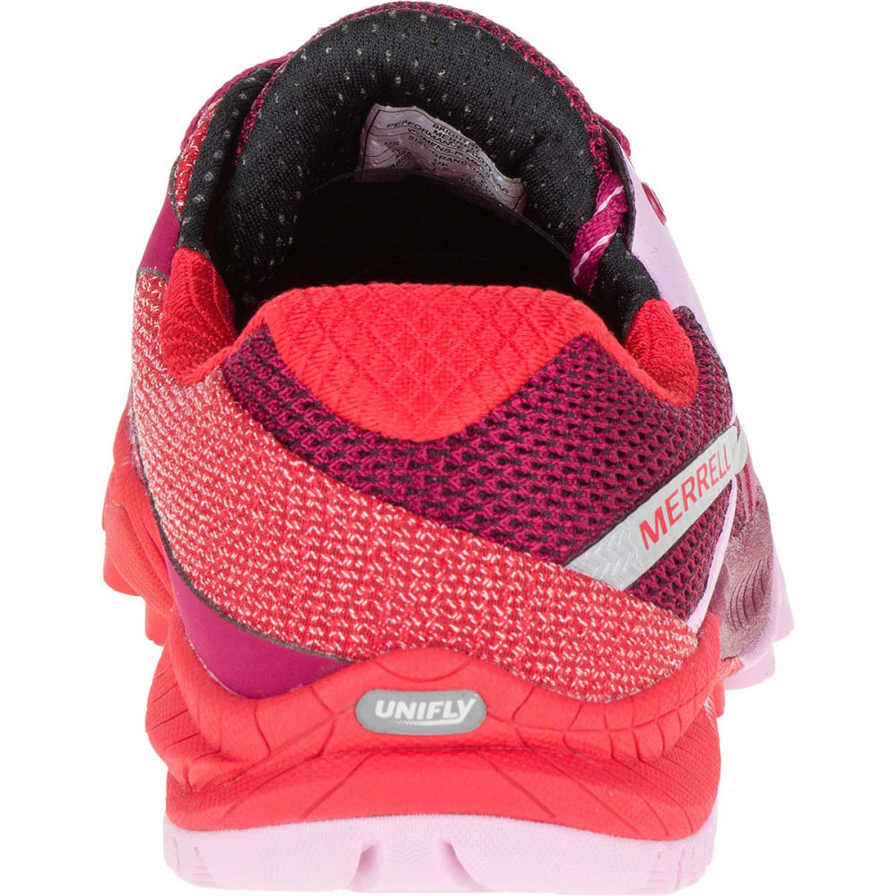 MERRELL Women's All Out Charge Running Shoes, Bright Red - BRIGHT RED