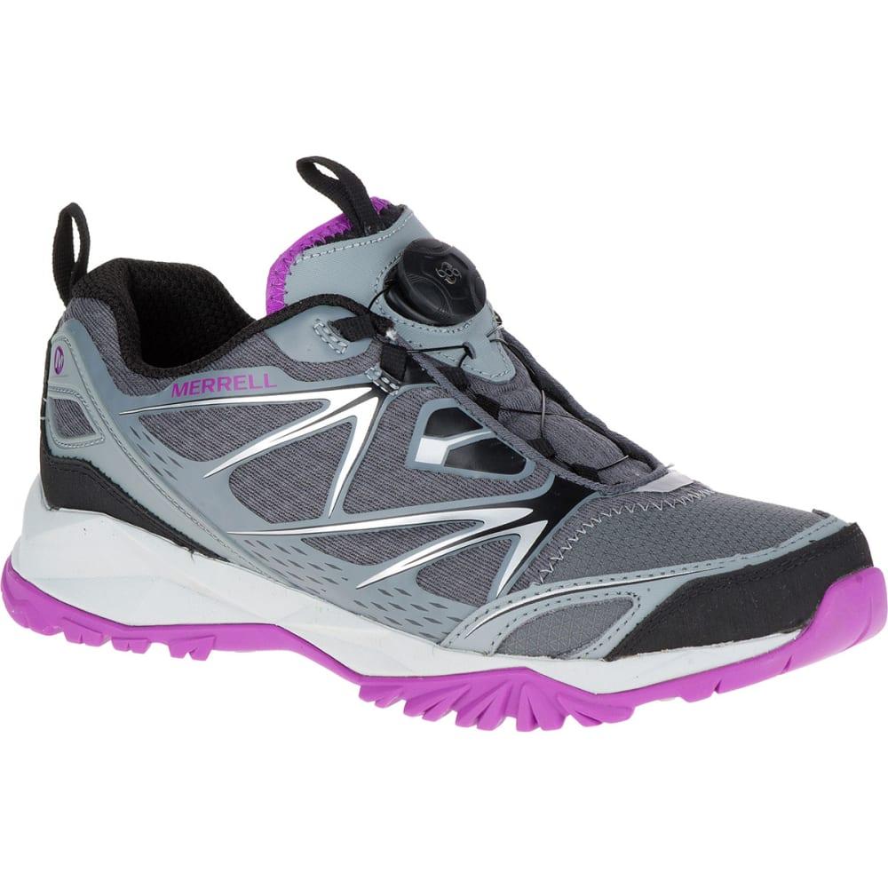 MERRELL Women's Capra Bolt Boa Trail Shoes, Grey - GREY