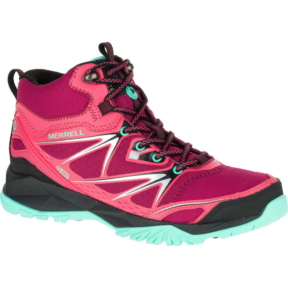 MERRELL Women's Capra Bolt Mid Waterproof Boots, Bright Red - BRIGHT RED