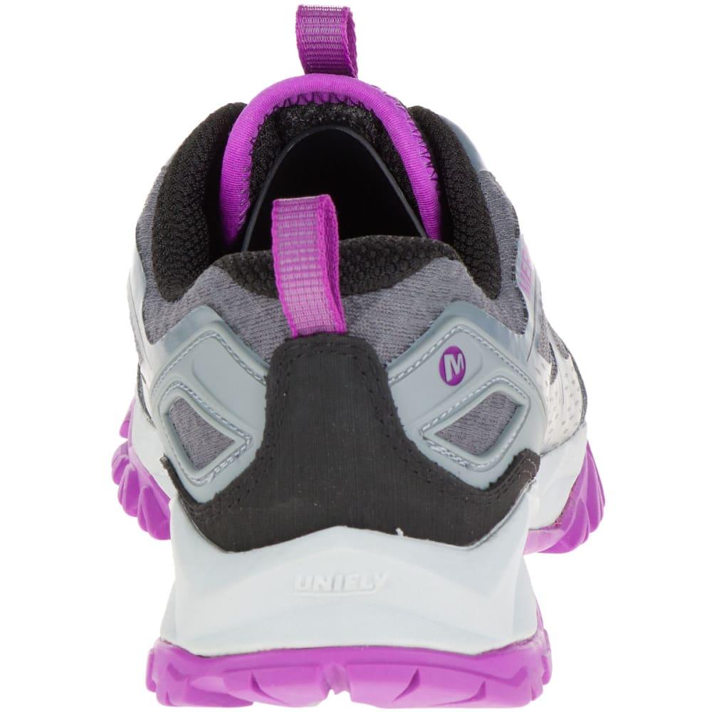 MERRELL Women's Capra Bolt Waterproof Trail Shoes, Grey/Purple - GREY/PURPLE