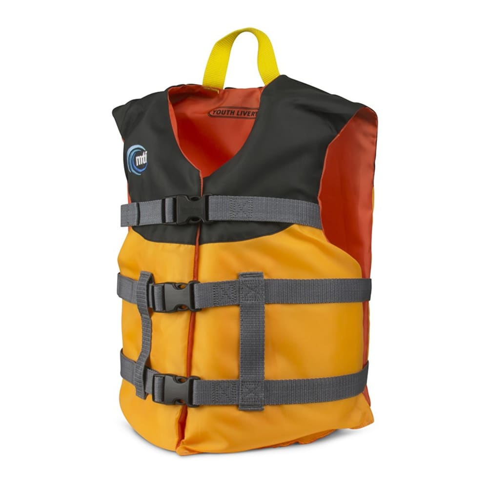 MTI Youth Livery Life Jacket - MANGO/BLACK