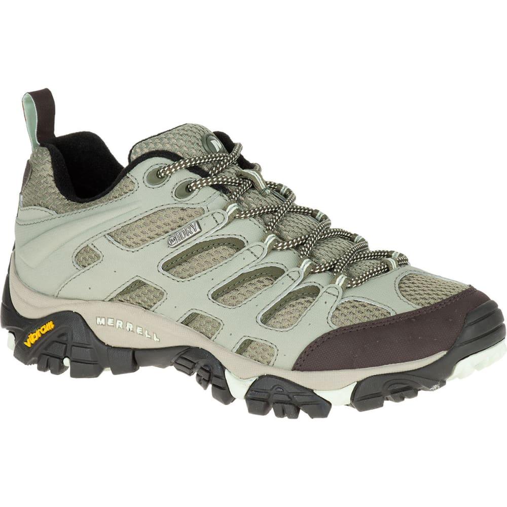 MERRELL Women's Moab Waterproof Hiking Shoes, Granite - GRANITE