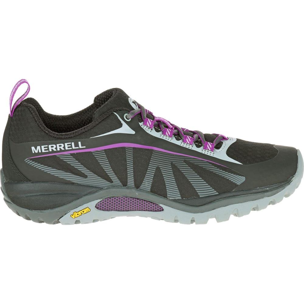 MERRELL Women's Siren Edge Hiking Shoes, Black/Purple - BLACK/PURPLE