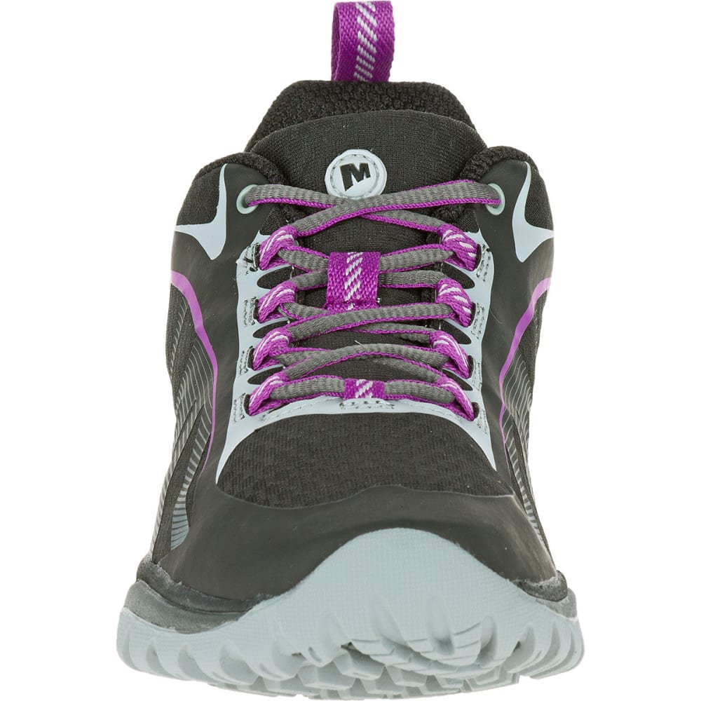 MERRELL Women's Siren Edge Hiking Shoes, Black/Purple - BLACK/PURPLE