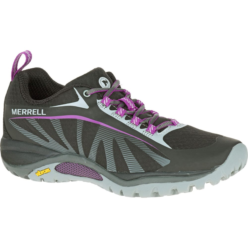 MERRELL Women's Siren Edge Hiking Shoes, Black/Purple 6