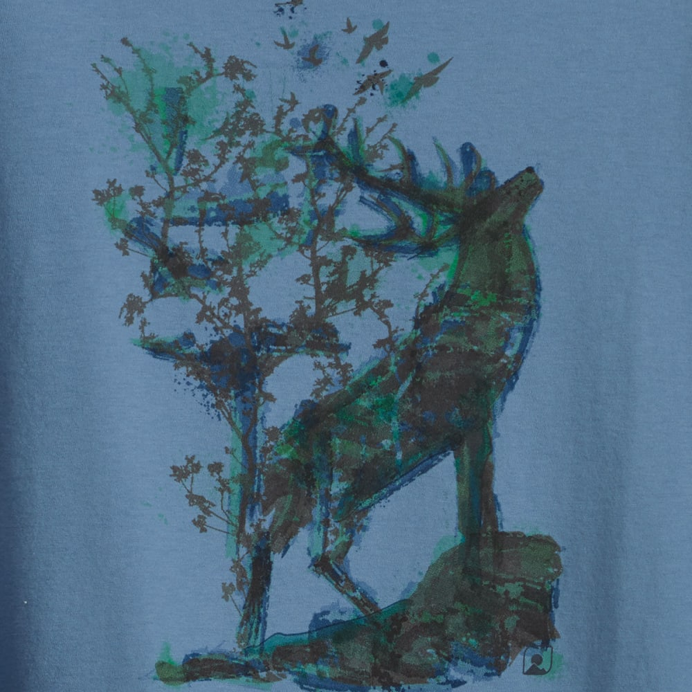 EMS® Men's Ink Elk Tee - CORONET BLUE