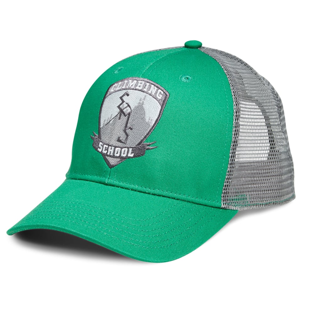 EMS Climbing School Trucker Hat - MEDIUM GREEN