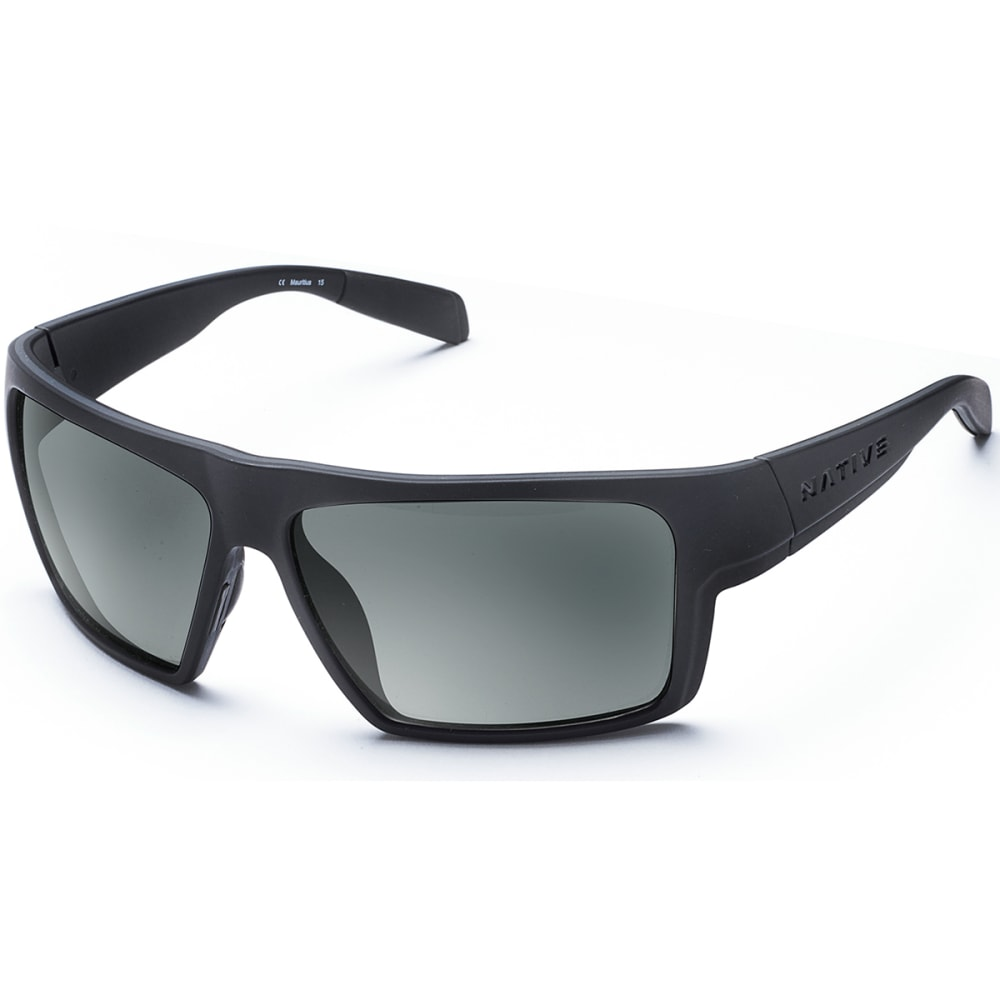 NATIVE EYEWEAR Eldo with Blue Reflex Lens Sunglasses - BLACK/GRAY/BLACK